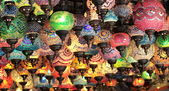 Turkish decorative colorful lamps — Stock Photo