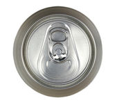 Aluminum drink can, top view — Stock Photo