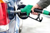 Pumping fuel — Stock Photo