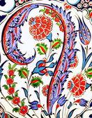 Turkish flower-patterned tiles — Stock Photo