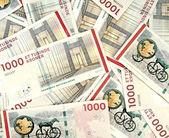 Scattered danish krone ( 10x1000 DKK ) — Stock Photo