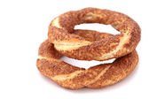 Turkish sesame bagels — Stock Photo