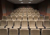 Cinema or theater auditorium — Stock Photo