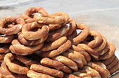 Turkish traditional sesame bagels — Stock Photo