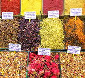 Colorfull Turkish spices bazaar in istanbul — Zdjęcie stockowe