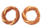Turkish traditional sesame bagels. — Stock Photo
