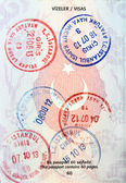 Visa stamps in Turkish passport. — Stock Photo