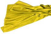 Yellow rippling silk fabric — Photo