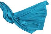 Turquesa rippling tecido de seda — Fotografia Stock