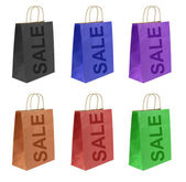 Shopping bags set with SALE text , — Stock Photo