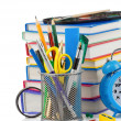 Stock Photo: Back to school concept isolated on white