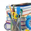 Foto de Stock  : Back to school concept isolated on white
