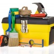 Set of tools and instruments in box — Stock Photo #12593597
