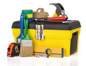 Set of tools and instruments in box — Stock Photo
