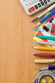 Terug naar school en kantoorbenodigdheden — Stockfoto