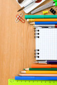 Back to school concept and office supplies — Стоковое фото