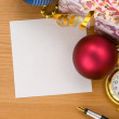 Christmas gift box with balls — Stock Photo #12777610