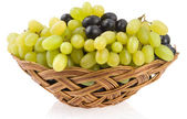 Fresh grape fruits isolated on white — Stock Photo