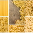 Raw pasta collage — Stock Photo #12803115