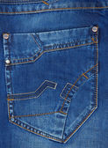 Jeans blue pocket texture — Stock Photo