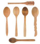 Wood spoon and stick as utensils — Stock Photo