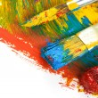 Brush and color paints on white — Stock Photo #13371711