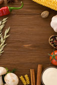Food ingredients and spices — Stock Photo