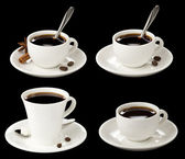 Cup of coffee collage — Stock Photo