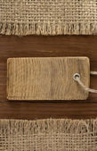 Price tag on wood — Stock Photo