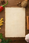 Background for cooking recipes — Stock Photo