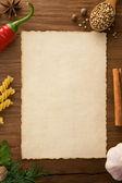 Fundo para receitas culinárias — Foto Stock