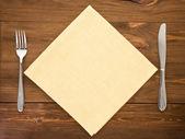 刀和叉木 — 图库照片