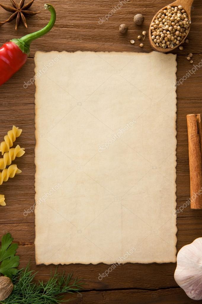 Sfondo per ricette di cucina foto stock seregam 14162341 - Si usa per cucinare 94 ...