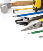Kit of construction tools — Stock Photo