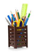 Supporto cesto e forniture d'ufficio — Foto Stock
