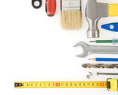 Kit of construction tools and instruments — Stock Photo
