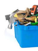Kit of tools on white background — Stock Photo