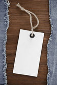 Blue jean on wood background — Foto Stock