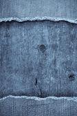 Blue jean on wood texture — Stock Photo