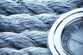 Ropes and compass — Stock fotografie