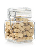 Nuts peanuts on white background — Stock Photo