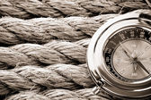 Ropes and compass — Stock Photo
