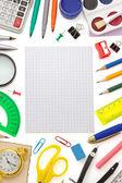 笔记本和学校用品 — 图库照片