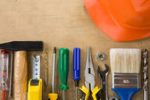 Set of construction tools — Stockfoto
