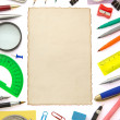 School and office supplies — Stok fotoğraf