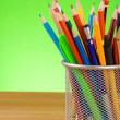 Holder basket and office supplies   — Foto de Stock