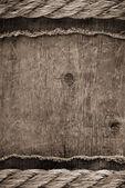 Ship ropes on wood — Stock Photo