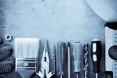 Set of construction tools — Stock Photo