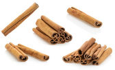 Cinnamon stick on white — Stock Photo