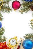 Christmas decoration on white — Stockfoto